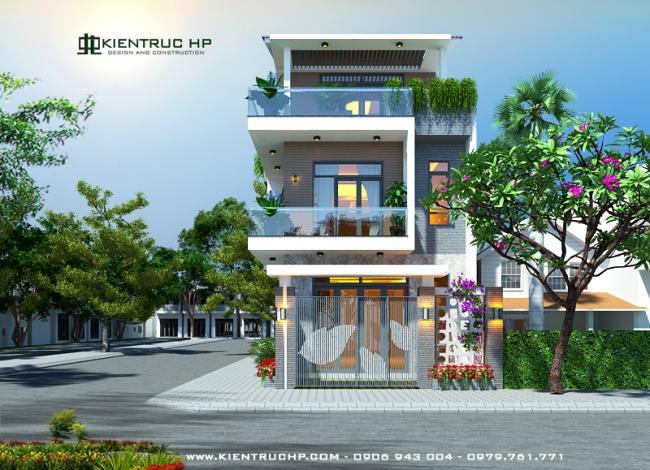 Nhà phố 2 mặt tiền 3 tầng chị Yên – Dĩ An, Bình Dương