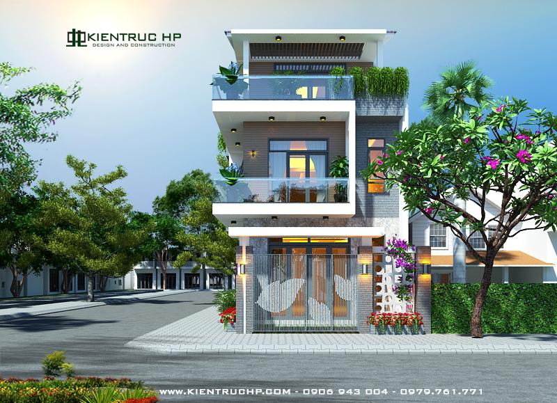 Nhà phố 2 mặt tiền 3 tầng chị Yên - Dĩ An, Bình Dương