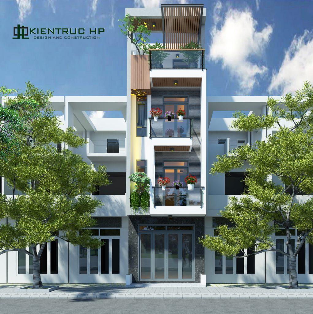 Thiết kế thi công nhà phố hiện đại 1 trệt 2 lầu sân thượng- Diện tích 4×12 – Chủ đầu tư A Bân